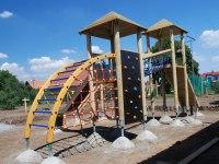 dětské hřiště Všestudy před dokončením